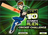 play Ben 10 Ultimate Cricket